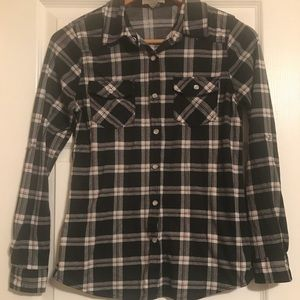 Plaid long sleeve polyester shirt!